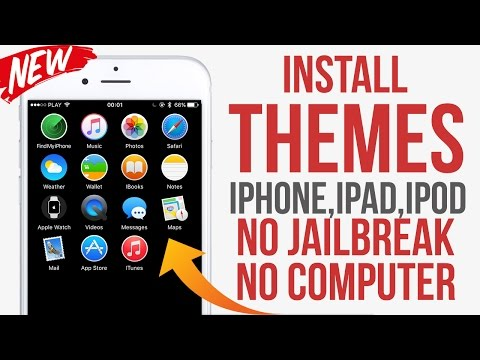 Install Themes on IPhone IOS 9 - 10 / 10.1  No Jailbreak No Computer