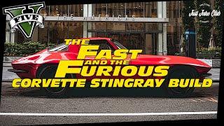 FATE OF THE FURIOUS CORVETTE STINGRAY CUSTOM CAR BUILD TUTORIAL: GTA 5 ONLINE (COQUETTE CLASSIC)