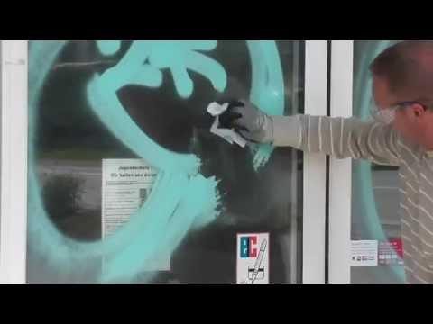 How to remove Grafitti from Acrylic * Grafitti entfernen von Acrylglas