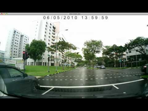 Car hit red-light, Petir Rd, Singapore