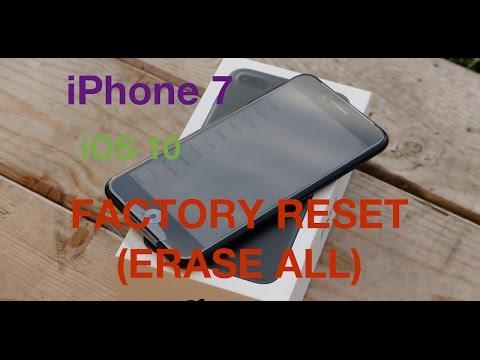 iPhone 7 Plus iOS 10 Reset Erase Everything
