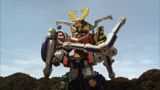 Octo Spear Megazord Debut Fight (Power Rangers Samurai)