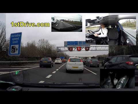How to drive on a smart motorway. Variable speed limits heavy traffic.