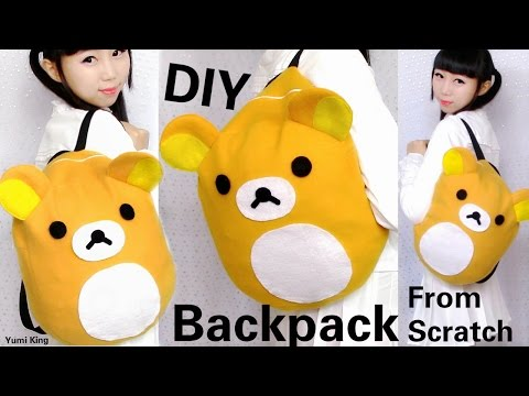 DIY Easy Backpack from Scratch | DIY Rilakkuma Backpack | Back to School DIY