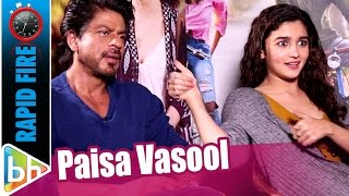 Alia Bhatt's PAISA VASOOL Rapid Fire On Shah Rukh Khan | Sidharth Malhotra | Palat Scene