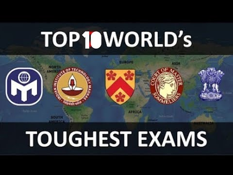 Top 10 Difficult Test/Exams in the World 2018