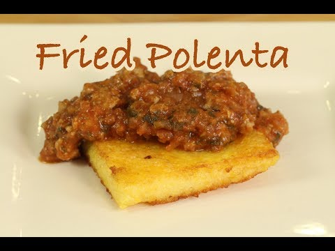 Homemade Fried Polenta With Marinara Sauce | Rockin Robin Cooks