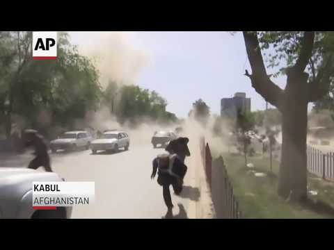 Deadly Double Suicide Bomb In Afghanistan - Raw Video