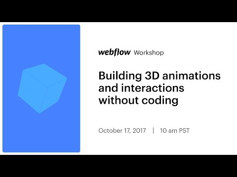 Building 3D animations and interactions without coding