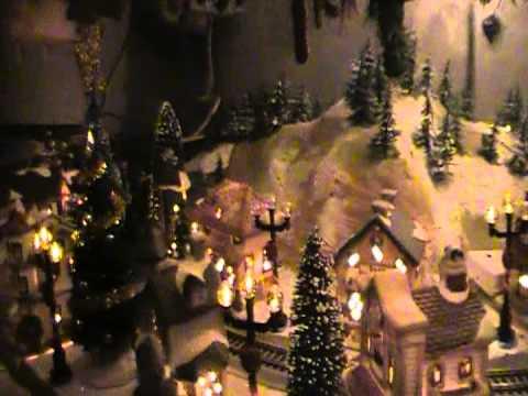 Village under the Christmas tree