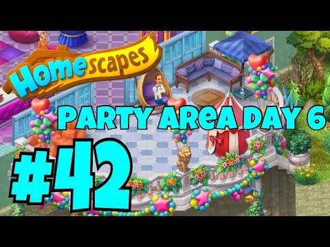 HOMESCAPES Gameplay Story Walkthrough Part #42 | Party Room Day 6