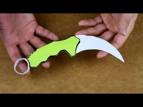 How to make KERAMBIT from paper