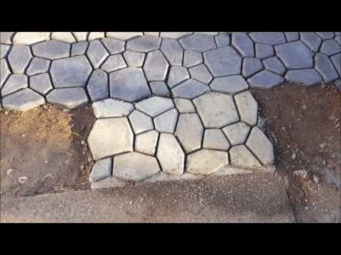 How to make a paver, cobblestone or brick walkway or patio with Walkmaker Part 2