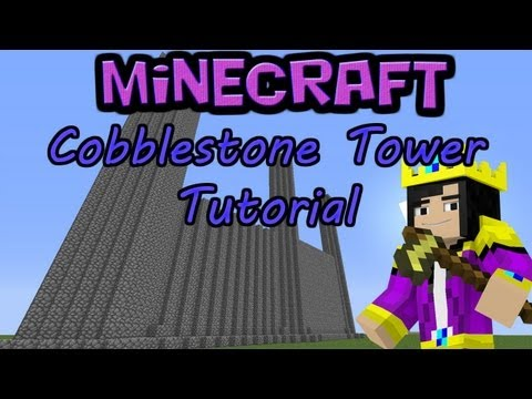 Easy Cobblestone Towers and Walls Tutorial - Minecraft