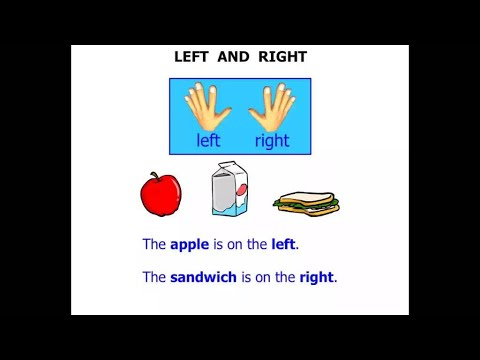 Kindergarten Lessons 2015: Left and Right