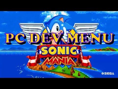 Sonic Mania PC DEV MENU [ Retro Engine ] settings.ini file in description
