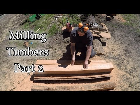 Chainsaw Milling Front Porch Timbers Part 2