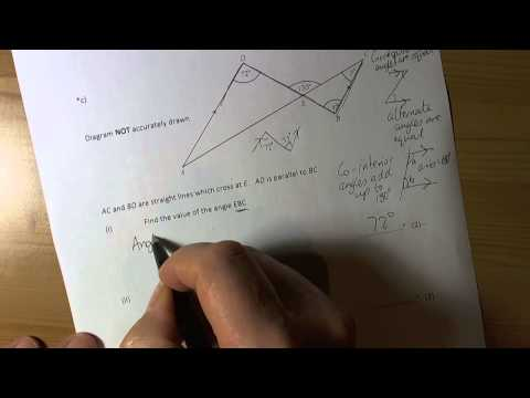 Finding missing angles in triangles and parallel lines   10A2
