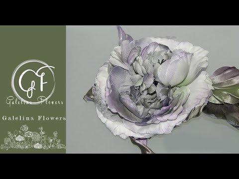 Japanese Somebana silk flower making , shaping petals with tweezers.