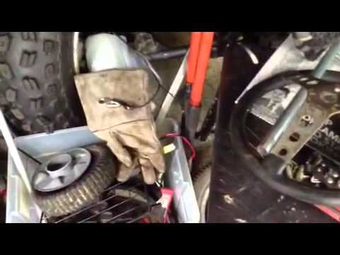 How to make a push mower into a go kart