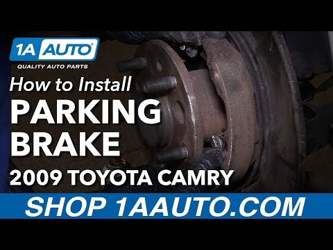 How to Install Replace Parking Brake Shoes and Hardware 2009 Toyota Camry