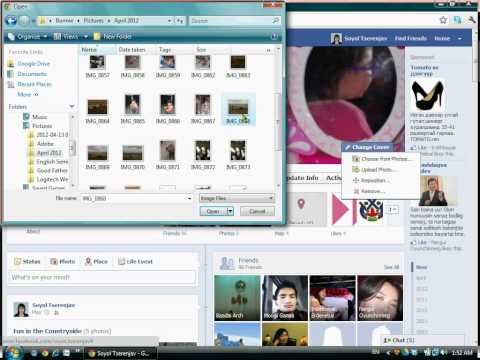 How to Change Facebook Pictures- Mongolian & English