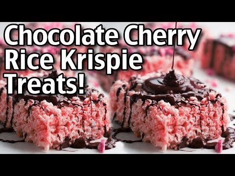 How To Make Rice Krispie Treats! Chocolate Covered Cherry Rice Krispie Treats Recipe!
