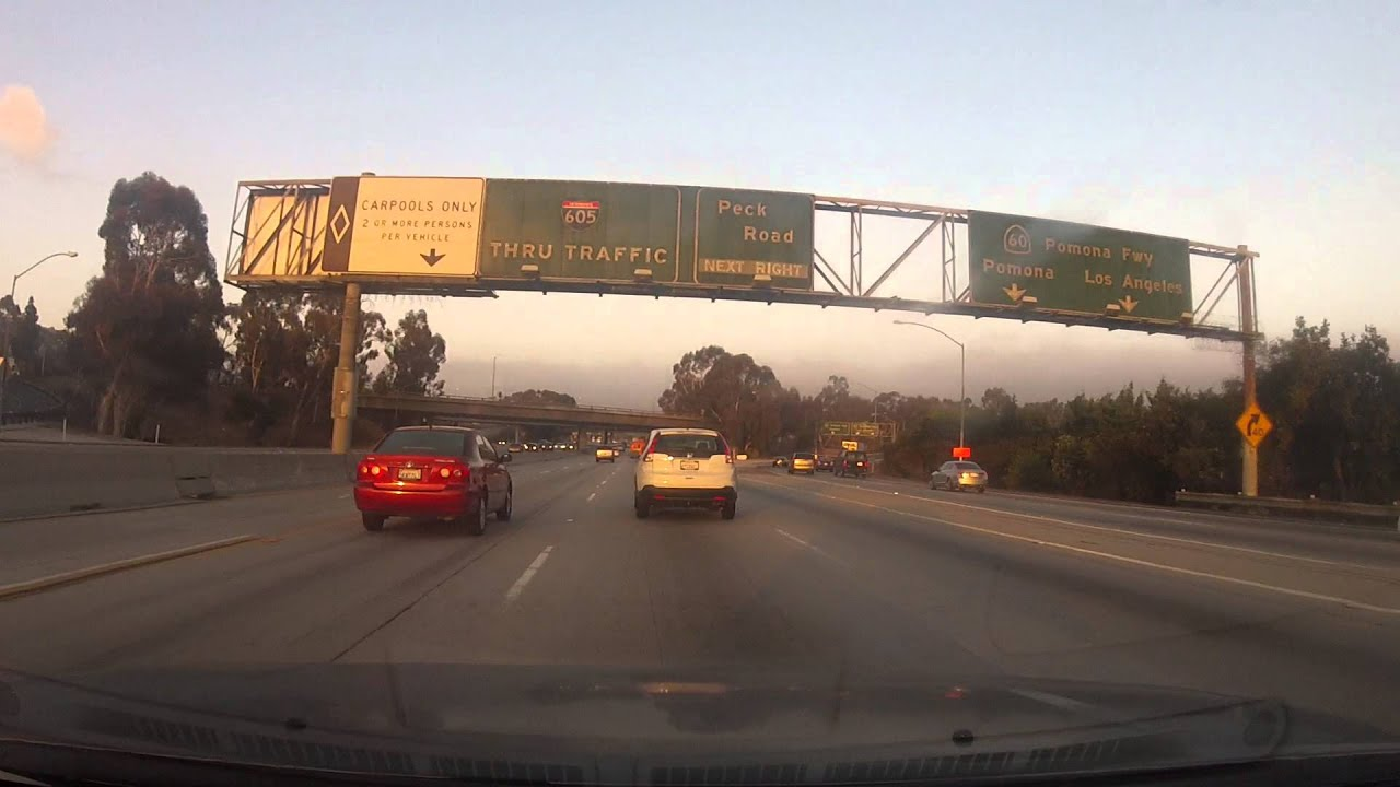 Drive to Pico Rivera in the early morning.