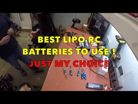 BEST LIPO RC BATTERIES TO USE ! JUST MY CHOICE