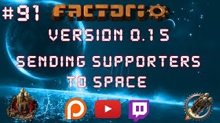 Factorio 0.15 Sending Supporters To Space EP 91: Solar Delivery Train! - Let