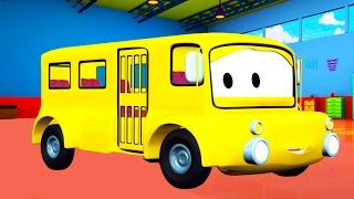 Lily the Bus 🚌 and her friends in Car City like Tom the Tow Truck🚚 Cars and Trucks Cartoons for Kids