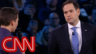Survivor to Rubio: Will you reject NRA money?