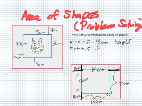 Area of Shapes Problem Solving (Grade 4)