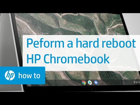 Performing a Hard Reboot on the HP Chromebook