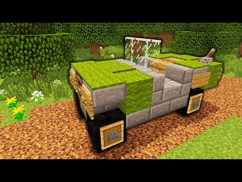 Minecraft - How To Make An Army Jeep | Tutorial