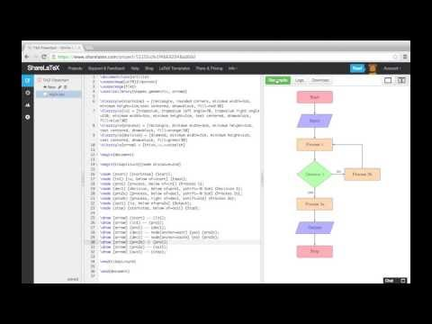 Creating Flowcharts with TikZ (LaTeX)