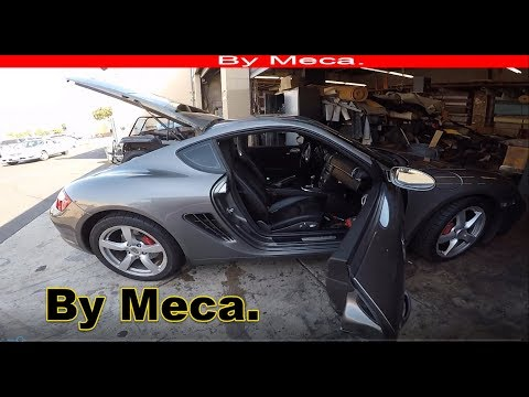 2008 Porsche Cayman S reupholster the Headliner By Meca.