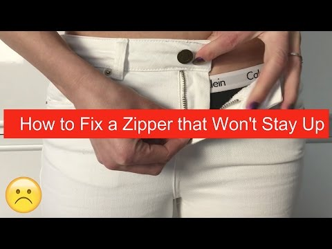 How to Fix a Zipper that Won't Stay Up - DIY (zipper keyring hack)