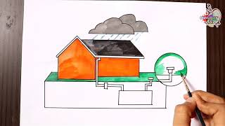 How to Draw Save Water / Save Earth Poster Drawing for Kids