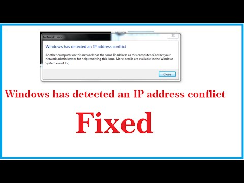 [ Fixed ] Windows has detected an ip address conflict