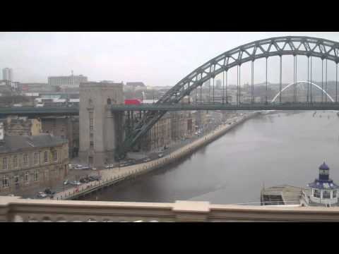 Crossing the River Tyne by Rail - 18th February, 2011