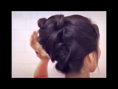 ★HAIR TUTORIAL: CUTE HAIRSTYLES WITH BOTTOM TWIST BUN UPDO FOR MEDIUM LONG HAIR | FRENCH TWIST STYLE
