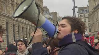 Protesters march in Paris as arrests fuel tension