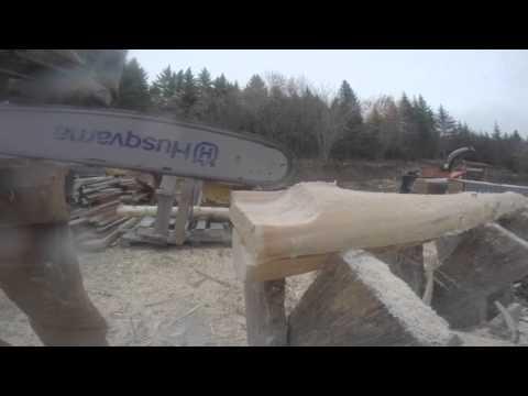 Making Log Railings