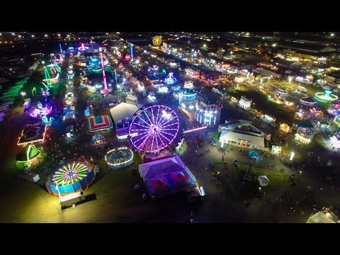 Aerial view of the New York State Fair 2016 in 4K