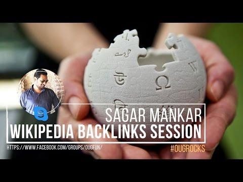 Wikipedia Backlink Session by Sagar Mankar