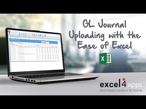 GL Journal Uploading with the Ease of Excel