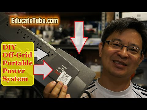 DIY Portable Off Grid Electrical System using APC UPS backup electrical power supply
