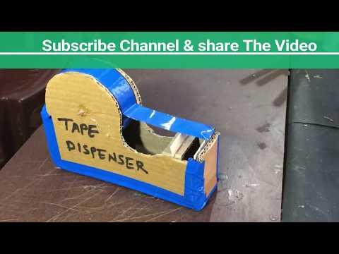 How to make a TAPE Cutter Dispenser Machine at home   DIY
