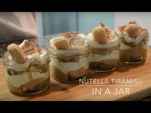 Nutella Tiramisu in a Jar